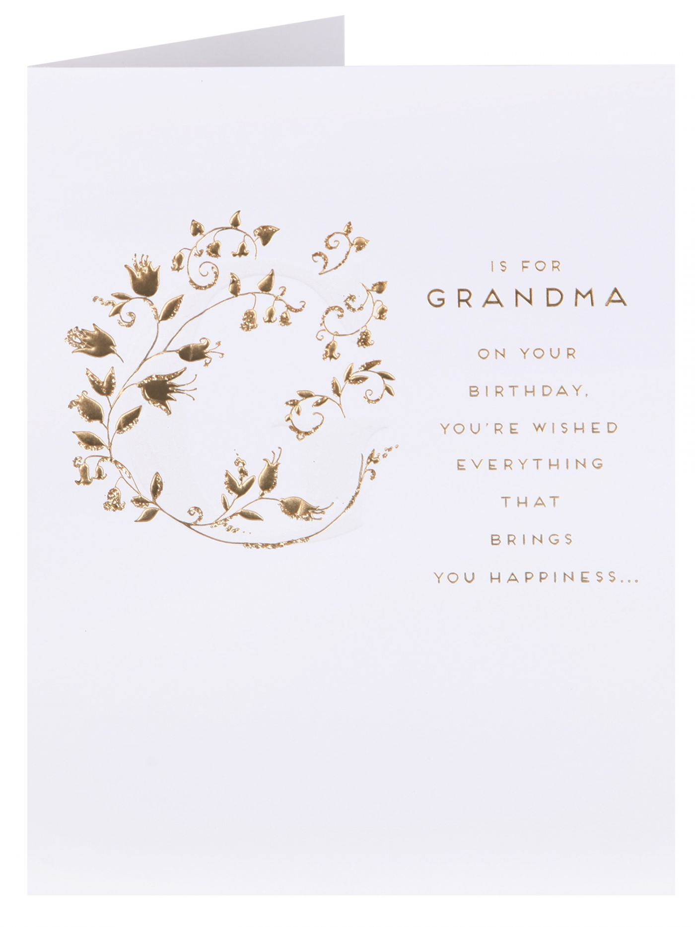 Clintons Collection G Is For Grandma Birthday Card Cards
