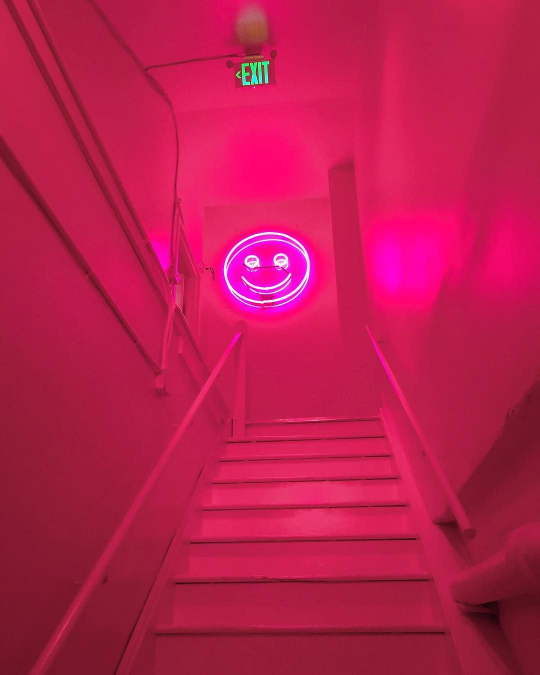The Color Factory Neon Pink Smiley Face With Images Face