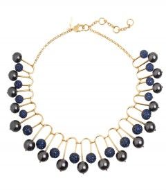 Lele Sadoughi Beaded Fan Necklace - New looks that mix fashion and art  http://shop.harpersbazaar.com/blog/trending-now-art-class/