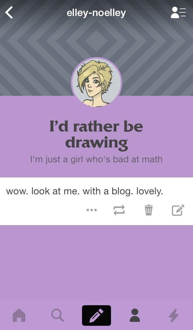 (Sorry it's not art) Guys, I got a Tumblr, so if you've got the time, please check me out! I've got exactly one post so far, but art is sure to come. Also, if you guys have any tips about Tumblr, AT ALL, please tell me, because as of now, I am extremely confused as how to use it *-*