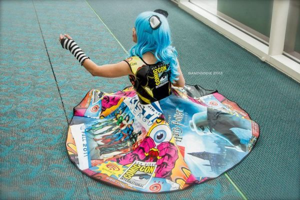 This Comic Con Dress is Made Entirely Out of Comic Con Bags [Pics]