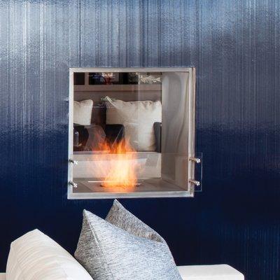 Ecosmart Fire Esf F 900db Ul Double Sided Bioethanol Fireplace Insert Finish Brushed Size 32 9 H X 39 4 W X 20 2 D Bioethanol Fireplace Fireplace Fireplace Inserts