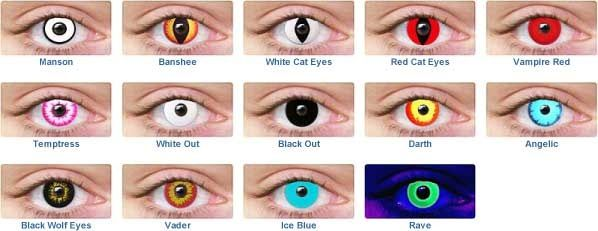 Halloween Contact Lenses - Turn heads at any party when you add ...