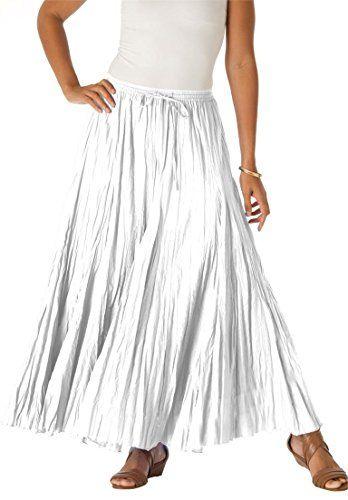 1915fef96c310 Women s Plus Size Cotton Crinkled Maxi Skirt