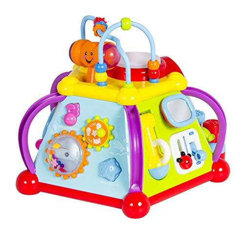 WolVol Musical Activity Cube Play Center with Lights, 15 ...