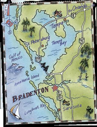 Bradenton Florida Map.The Location Of The Bradenton Blues Festival Bradenton Blues