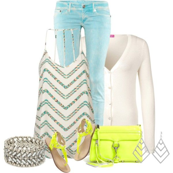 """""""Chevron + Neon II"""" by pantherstyle on Polyvore"""
