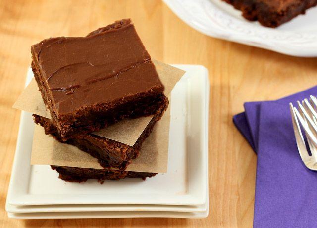 Mexican Espresso Brownies with an Espresso Chocolate Glaze