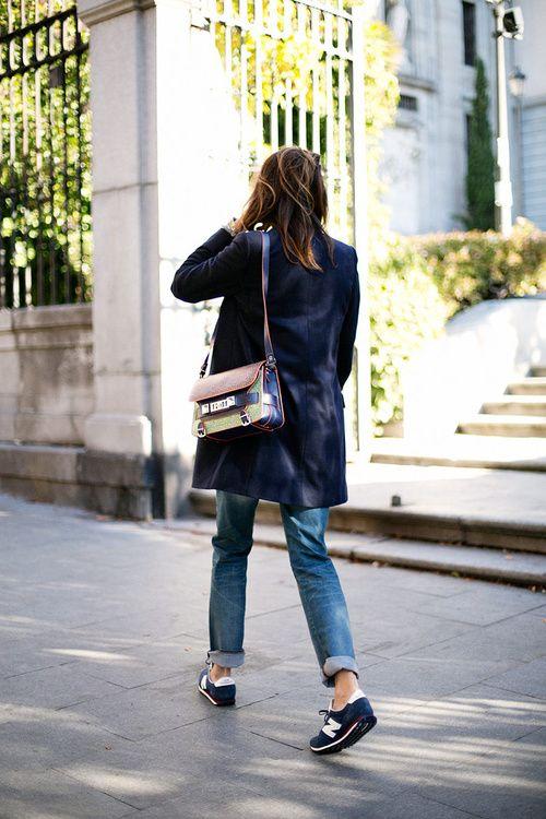 ec0b7a9fb1 New Balance and cuffed boyfriend jeans