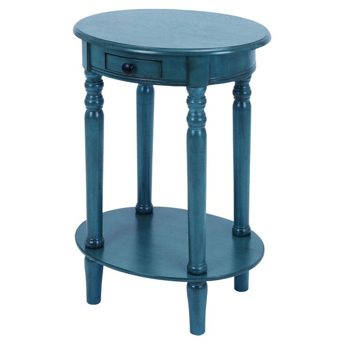 Peacock Blue End Table Love This Color For End Tables I Plan To