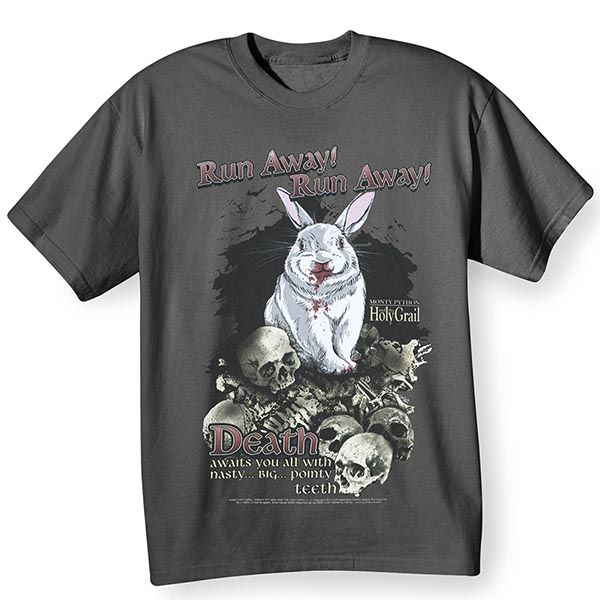 ed2ce038797 Monty Python and the Holy Grail T-Shirt - Killer Bunny Attack at What on  Earth