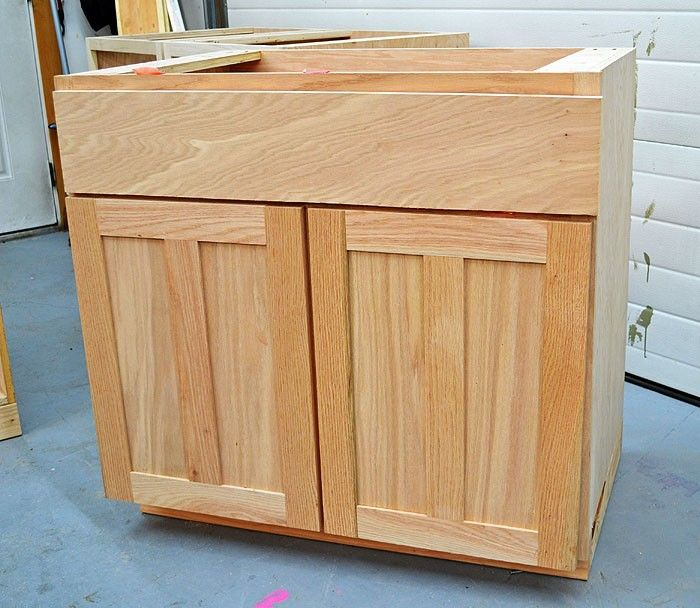 Simple Kitchen Sink Cabinet: Build A Kitchen Cabinet Sink Base 36 Full Overlay Face Frame