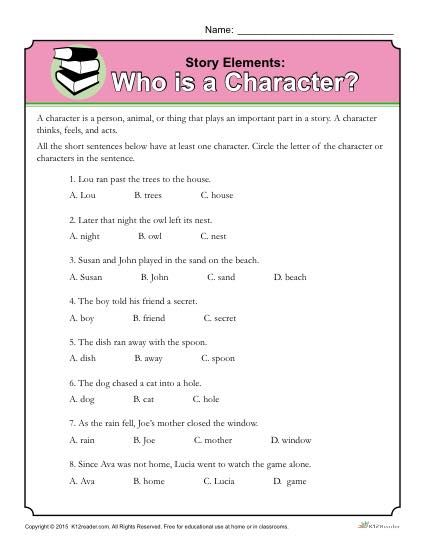 Who Is A Character Learning Activities Pinterest Story