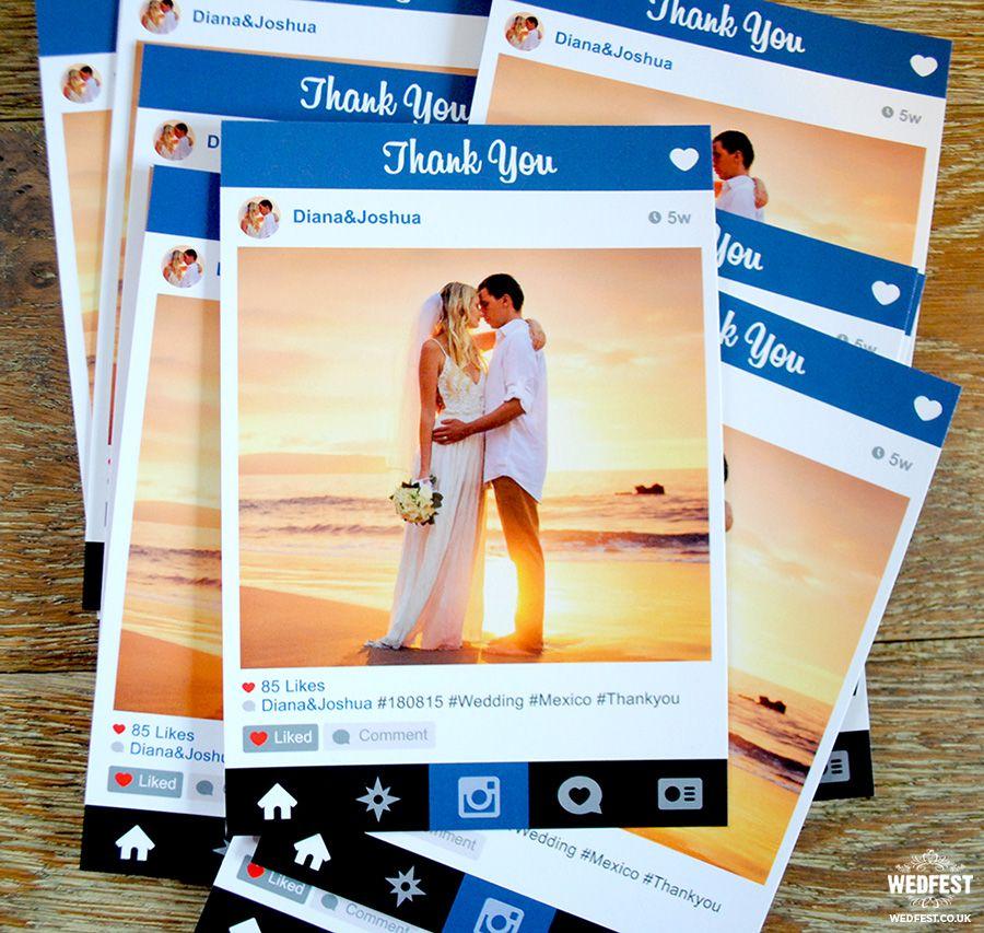 Instagram Wedding Thank You Wedding Thank You Cards Wedding Thank You Instagram Wedding