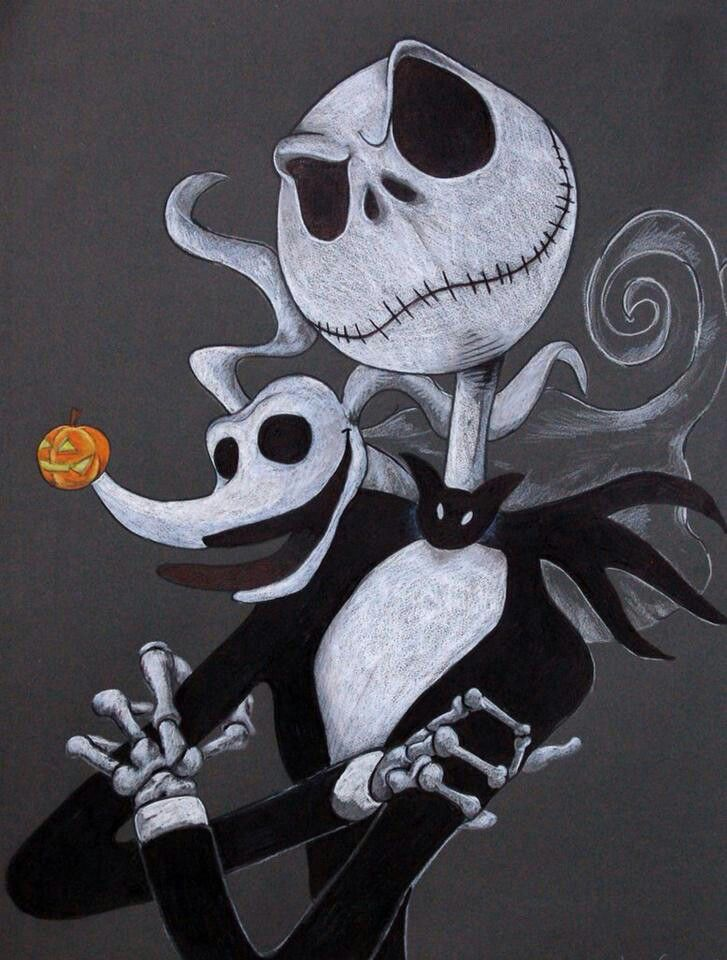 Jack And Zero Nightmare Before Christmas Drawings Nightmare Before Christmas Tattoo Jack Skellington Pumpkin
