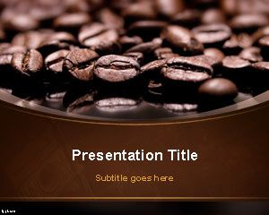 Coffee Beans Powerpoint Template Free Coffee Coffee Presentation Food