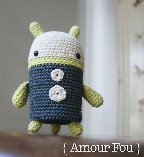 Ulises, the Robot - free crochet pattern in English and Spanish by ...