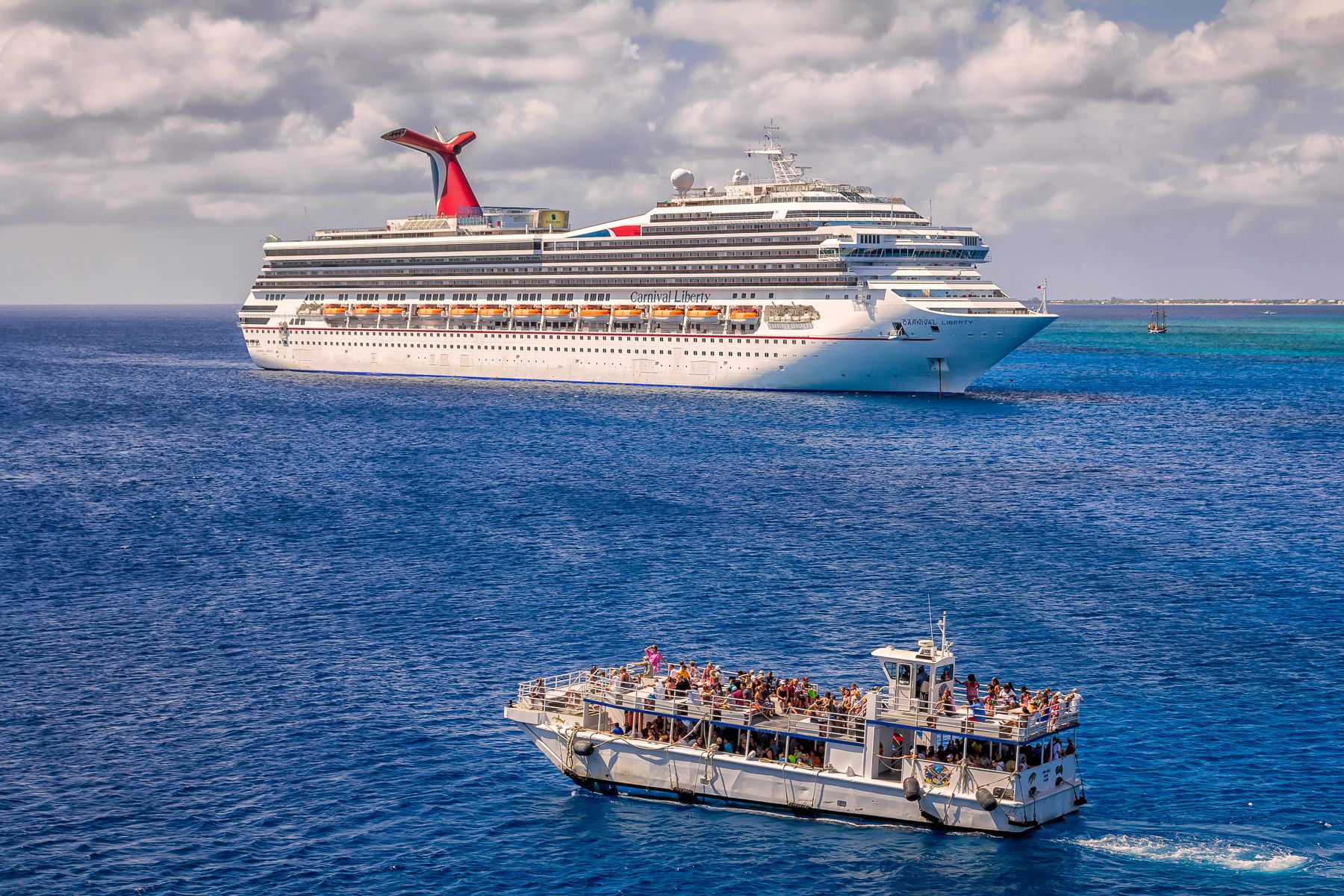 A Cruise Ship Tender Used To Transport Passengers Between A Port And A Ship When The Ship Is Unable To D Grand Cayman Western Caribbean Cruise Caribbean Cruise