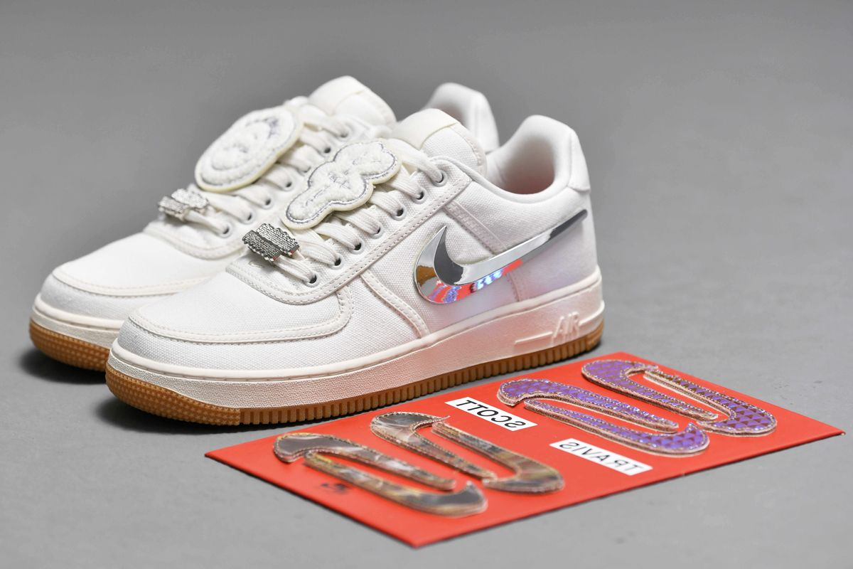 2018 Nike Air Force 1 Low Travis Scott Af100 White Sail In 2020