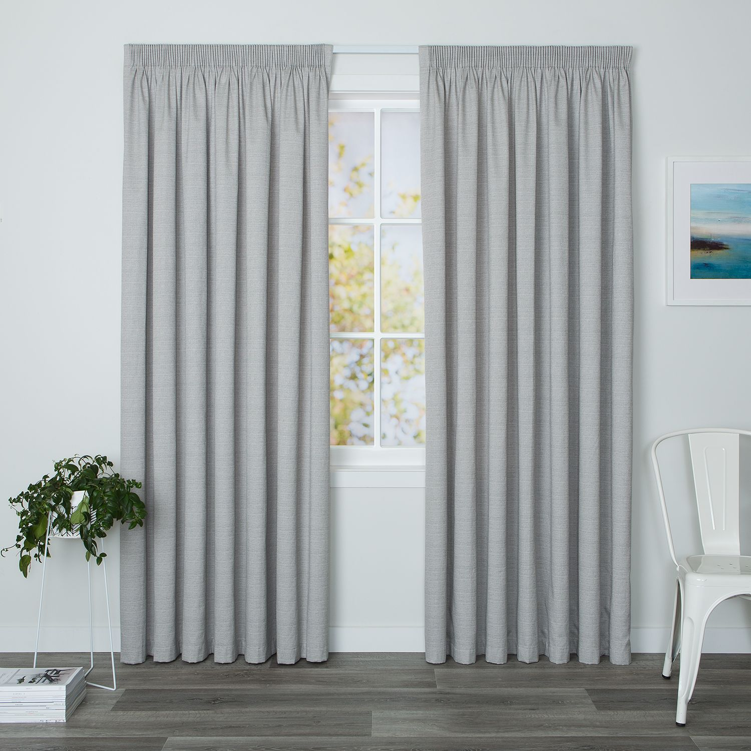Ready Made Thermal Curtains Eaton Concrete Readymade Thermal Pencil Pleat Curtain Curtain