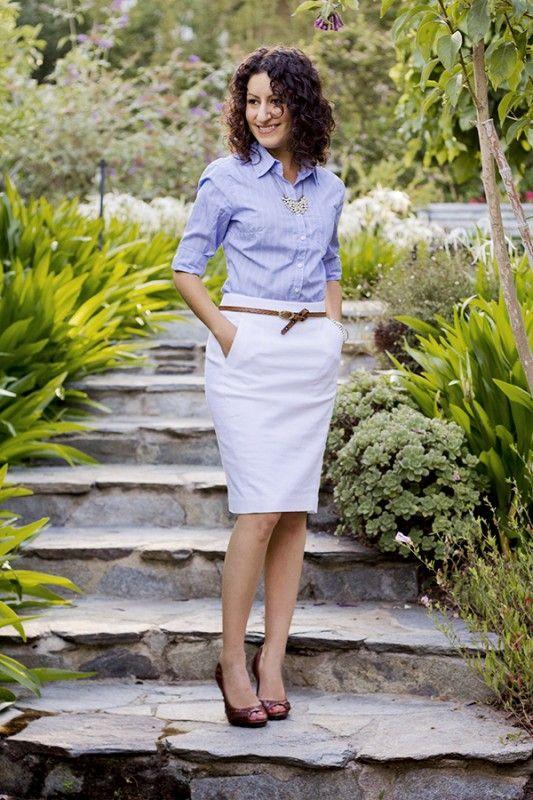 White Pencil Skirt