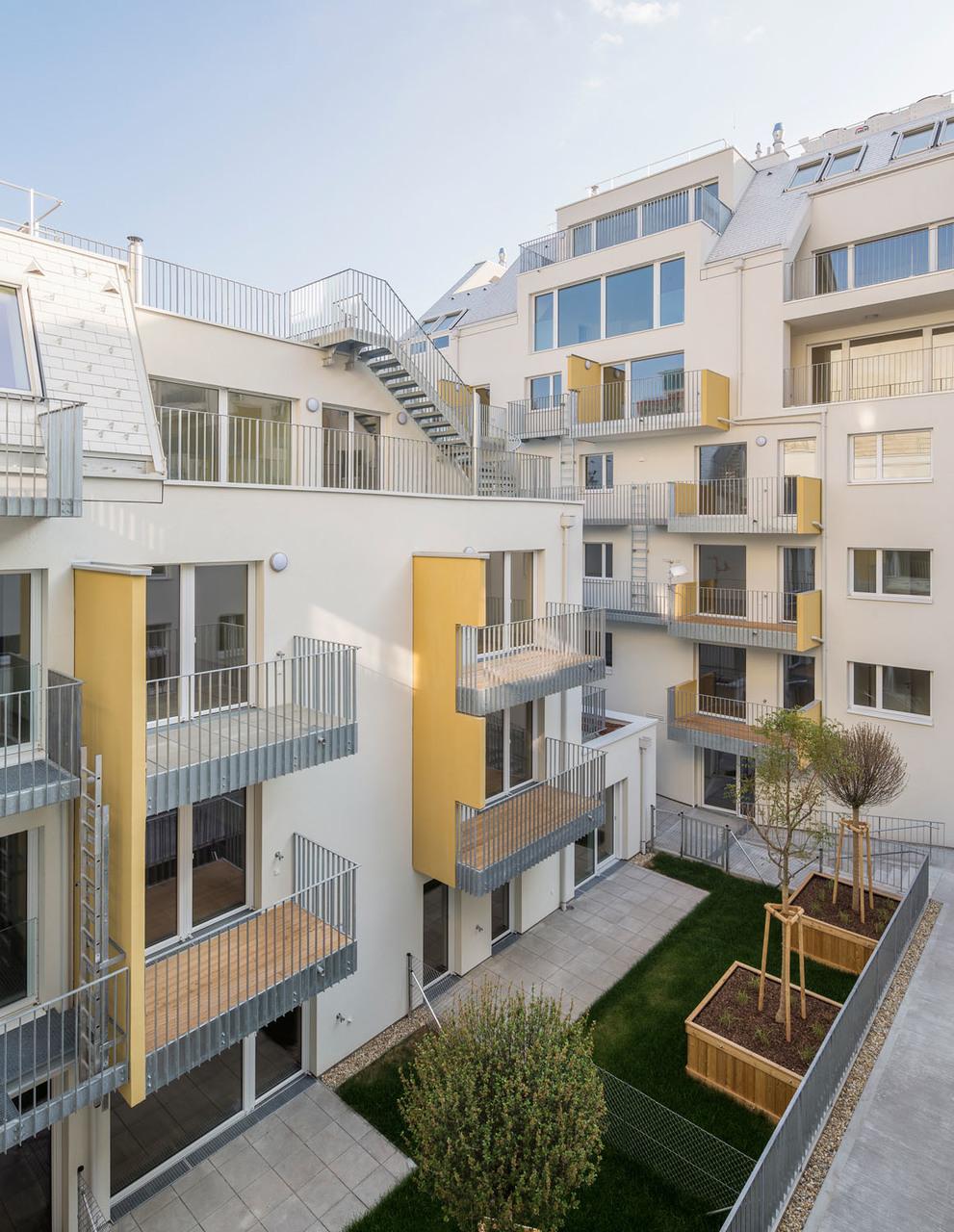 Wohnbau Graf-Strahemberg-Gasse, HuB Architekten, Tp3 Architekten – Wien (A) – 2016