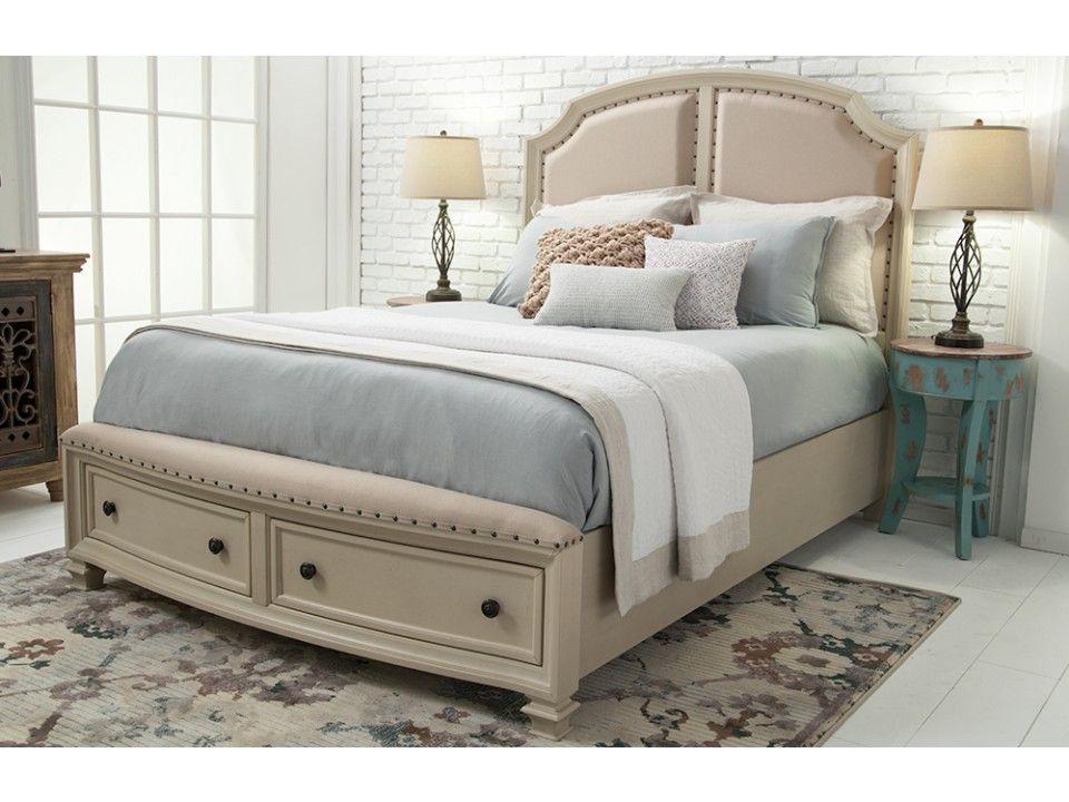 Euro Cottage Queen Storage Bed Beds Headboards Bedroom