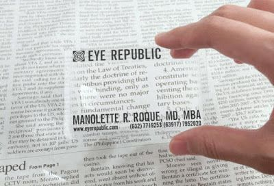 Magnifying Glass Business Card: Business cards that double as reading glasses.