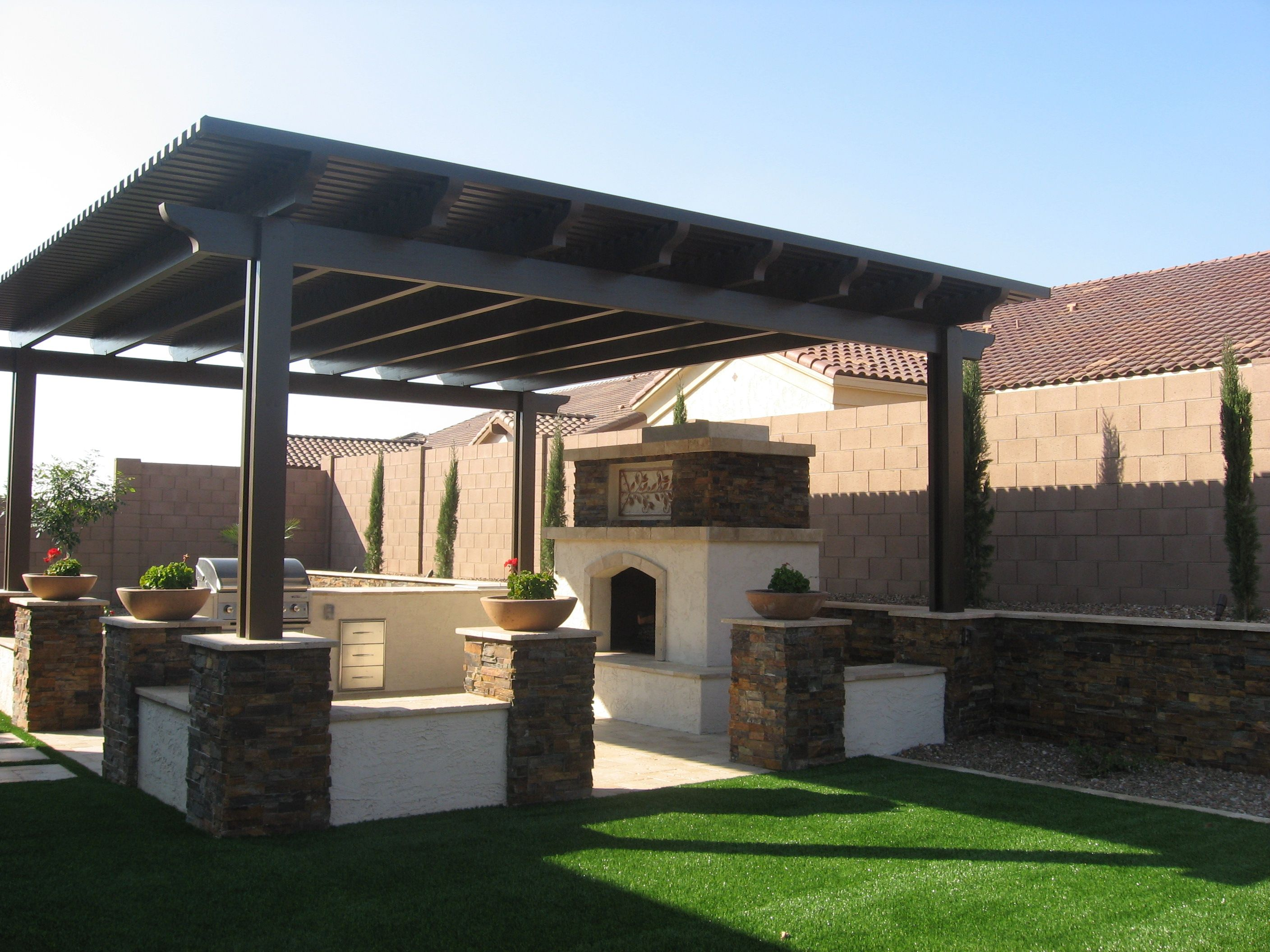 Ramada design plans designed pergolas and gazebos for for Abri mural hardtop gazebo