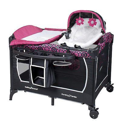 Baby Trend Deluxe Nursery Center Cerise Cosas Para