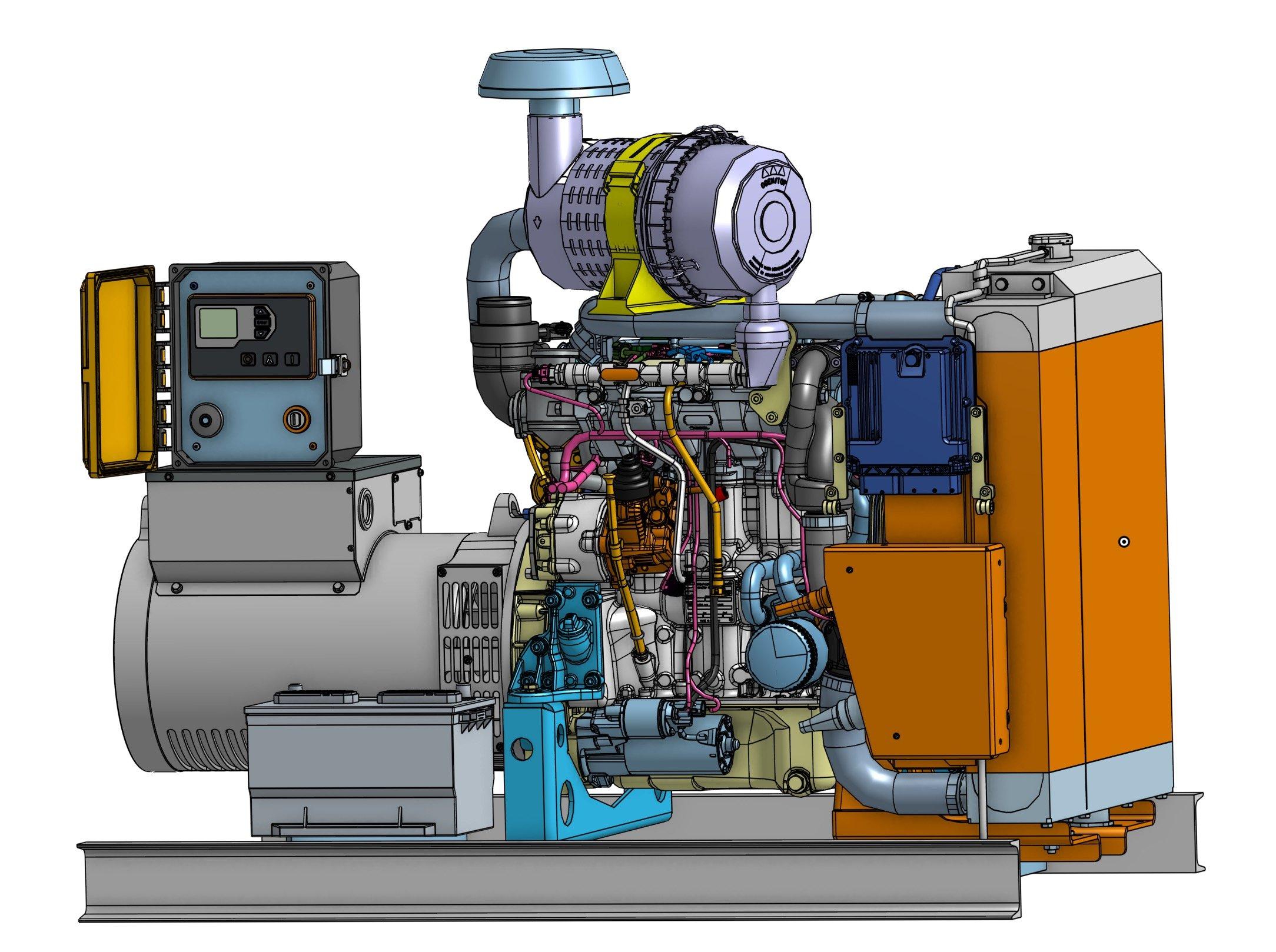 25 kW Diesel Generator | Tier 4 Final | Hatz | Emergency