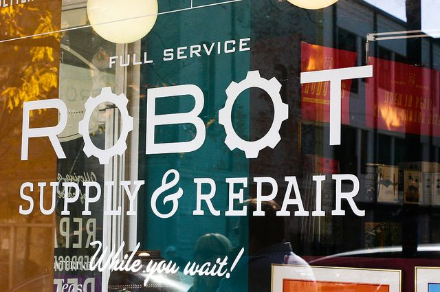 Robot Shop. Loving the ampersand... BB.