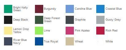 Port Authority K100 Core Classic Pique Polo Color Chart