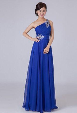 0d898dc14d Aliexpress.com : one shoulder A line sexy beads long evening dress ...