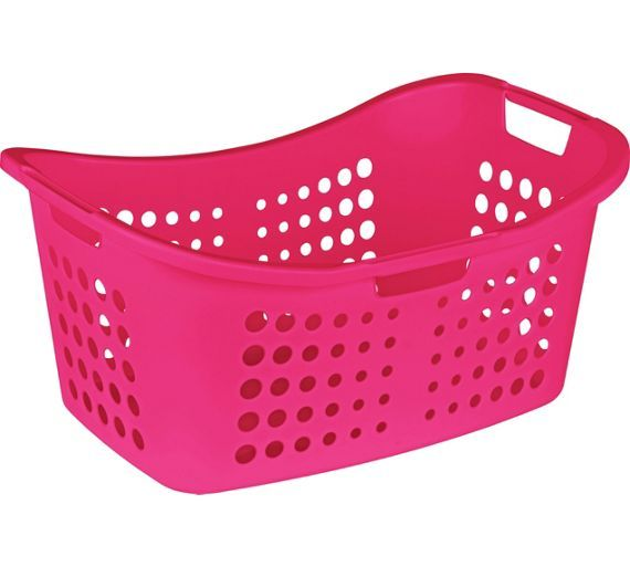 Pink Plastic Laundry Basket Amusing Buy Colourmatch Laundry Basket  Funky Fuchsia At Argoscouk  Your Design Inspiration