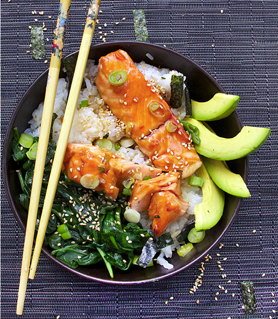 Teriyaki Salmon Rice Bowl by Panning The Globe - best recipes of the year