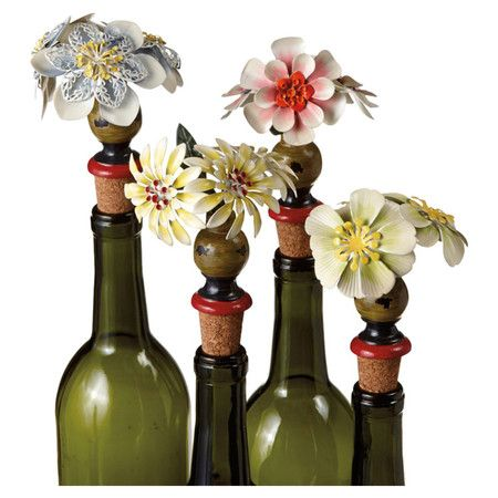 4 Piece Francesca Bottle Stopper Set Bottle Stoppers Bottle Bottles Decoration