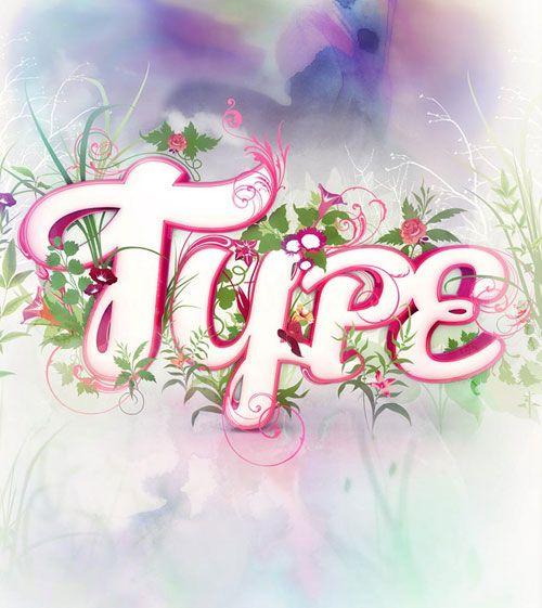 Life Typography Example