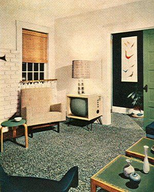 1950 39 s atomic ranch house more 1950 s atomic mid century - 1950 s living room decorating ideas ...