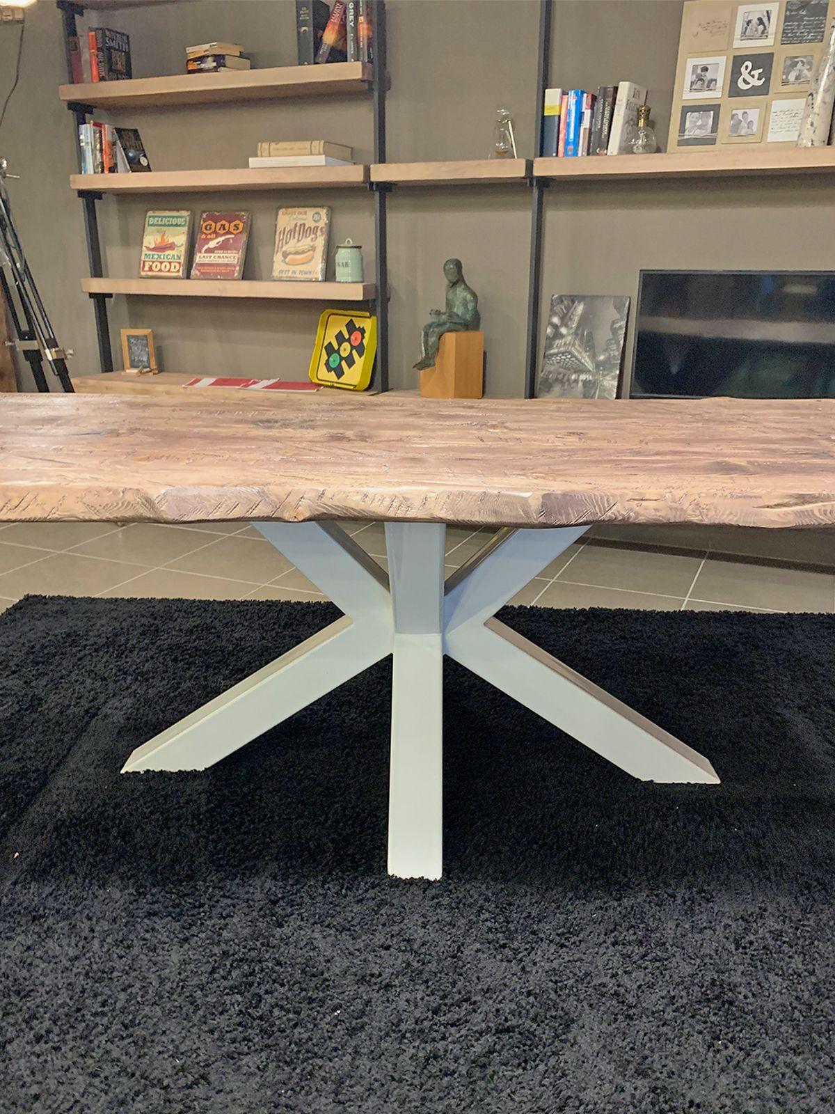 Legno Online Su Misura tavolo in legno massello rustico effetto invecchiato toby