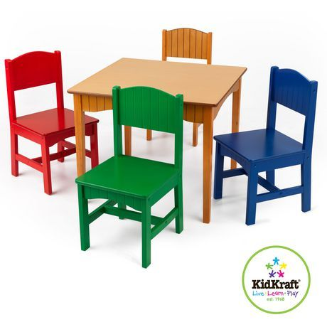 Nantucket Table 4 Primary Chairs Walmart Ca Table And Chair Sets Table And Chairs Kids Table And Chairs