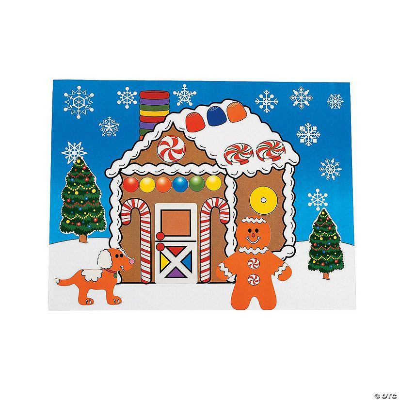 DIY Gingerbread House Sticker Scenes