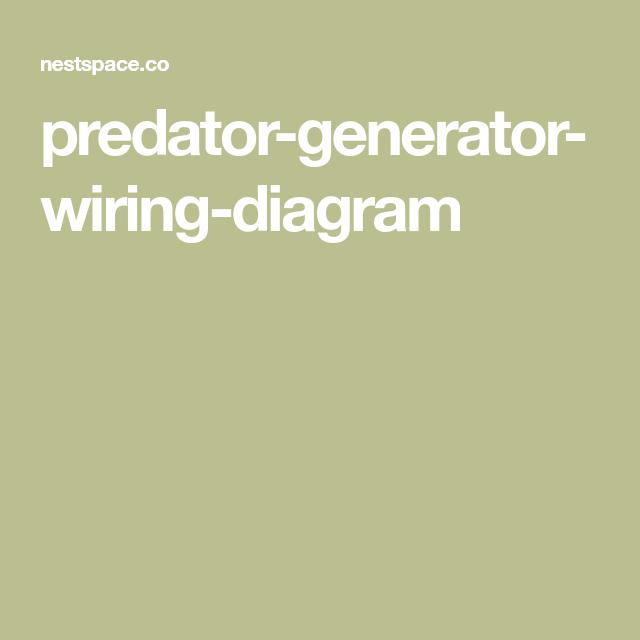 Predator Generator Wiring Diagram Diagram Generation Predator