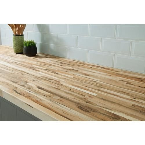 Maple Builder Grade Butcher Block Countertop 8ft Butcher Block Countertops Countertops Butcher Block