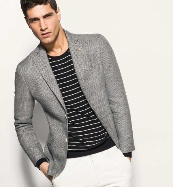 Combinar chaqueta gris hombre