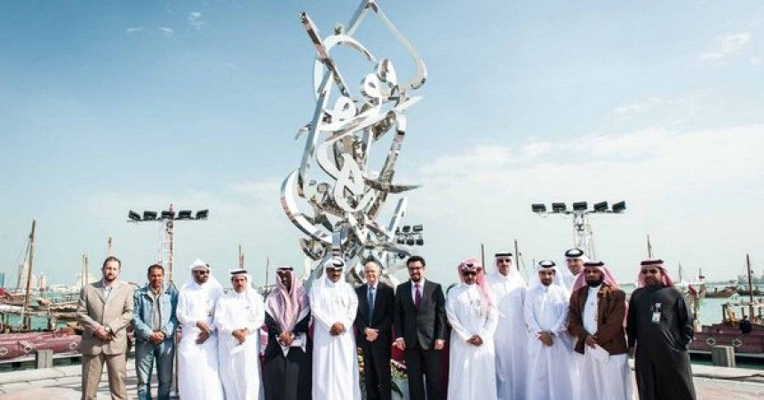 Oxy Qatar Celebrates National Day with Arabic Calligraphy Sculpture