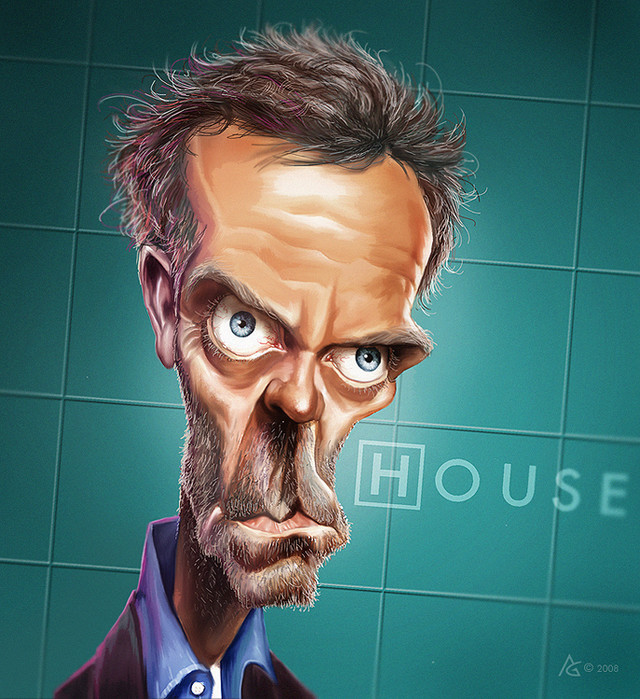 caricature dr house by AnthonyGeoffroy on DeviantArt