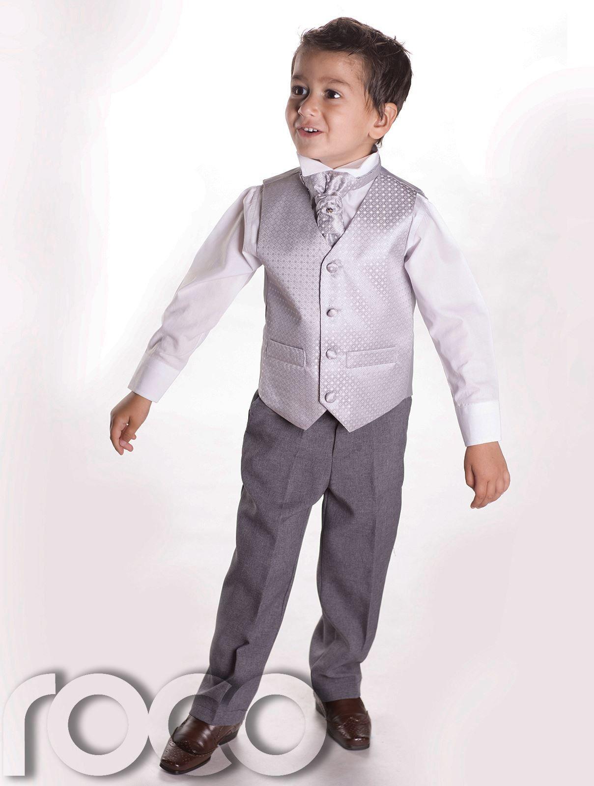 Boys Waistcoat Suit, Boys Wedding Suits, Page Boy Suits, Grey ...