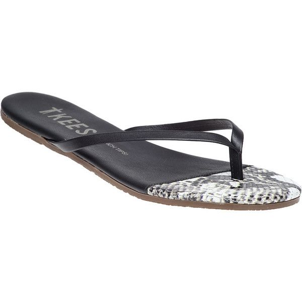 fd21e12524548 TKEES French Tip Rattle Bone Flip Flop (3
