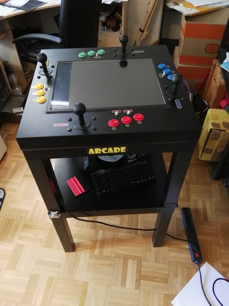 4 player ikea hack arcade diy pinterest ikea hack for Ikea cocktail table
